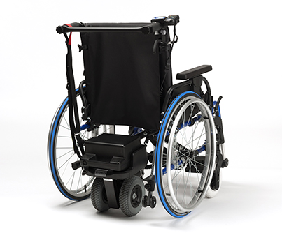 Aux. motor manual wheelchair